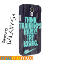 Mint Nike Quote On Wood Samsung Galaxy Series Full Wrap Cases