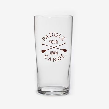 Canoe Pint Glass