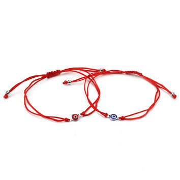 Best Selling Thin Red Thread Evil Eye Charms Bracelet String Rope Braided Bangles Bracelets For Women Men Adjustable Length