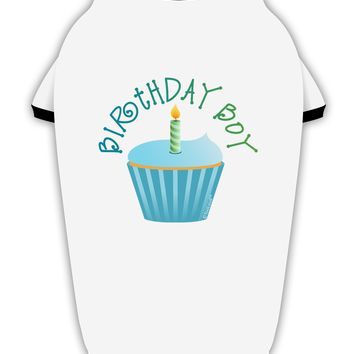 Birthday Boy - Candle Cupcake Stylish Cotton Dog Shirt by TooLoud