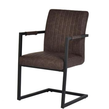 Marta Modern Brown Leatherette Dining Chair (Set of 2)