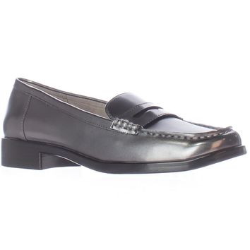 Aerosoles Main Dish Penny Loafers, Dark Silver Metal, 9 US