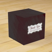 Gray and Maroon Thank You Gift Box