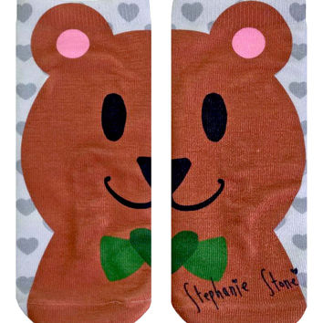 Steph Stone Happy Bear Ankle Socks