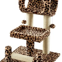 Frisco 28-Inch Cat Tree, Animal Print