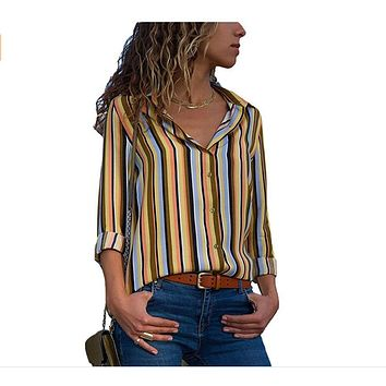 Work Office Button Up Blouse Women Shirt Top Womens Tops and Blouses Plus Size 5XL