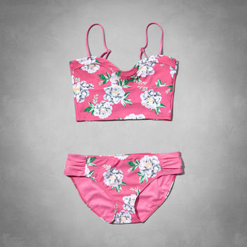 floral strappy tankini swimsuit