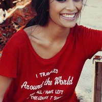Wildfox Couture Around The World Easy T in India