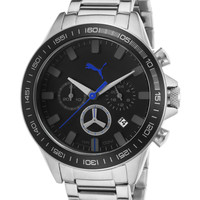 Puma Men's Motor Sport Stainless Steel Chronograph Watch, 44mm - Black