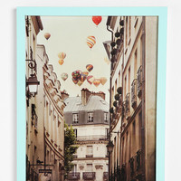Urban Outfitters - Irene Suchocki Balloons Over Paris Framed Print