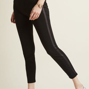 Ponte Pants with Tuxedo Stripe