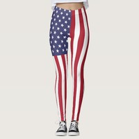 Leggings with flag of United States of America