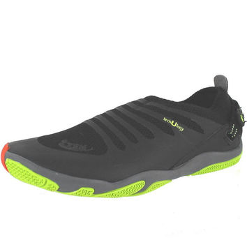 Zemgear U-Ex Round Toe Land & Water Minimalist Shoes - Black/Black