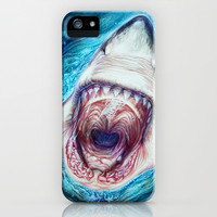 Wild Shark iPhone & iPod Case by Beart24