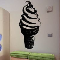 Vinyl Wall Decal Sticker Cone Twirl #5313
