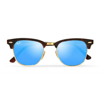 Ray-Ban - Clubmaster Acetate and Metal Mirrored Sunglasses | MR PORTER