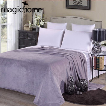 Flannel Blanket Spring Warm Bedclothes Solid Fleece Blankets for Beds Baby Student Fiber Fabric Couverture Polaire Cobertor