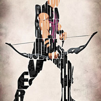 Hawkeye Inspired The Avengers Typographic Print and Poster