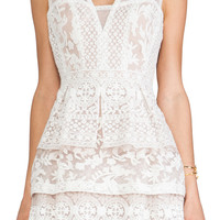 BCBGMAXAZRIA Fola Dress in Cream