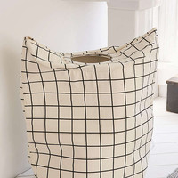 Grid Standing Laundry Bag Hamper | Urban Outfitters