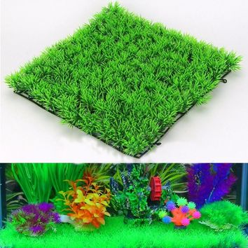 Eco-Friendly Aquarium Ornaments Artificial Water Plastic Green Grass Plant Lawn Aquatic Aquarium Fish Tank Decor