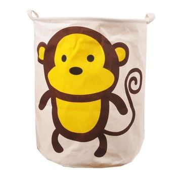Large Laundry Basket Cute Animal Toys Basket For Baby Storage Basket For Toys Fabric Dirty Clothes Basket 40*50Cm Storage Bags