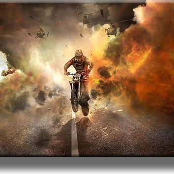 Motorcycle Picture on Acrylic , Wall Art Décor, Ready to Hang!