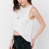 Silence + Noise Curved-Front Tank Top- White
