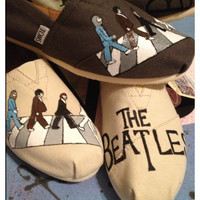 Beatles Custom Toms Shoes