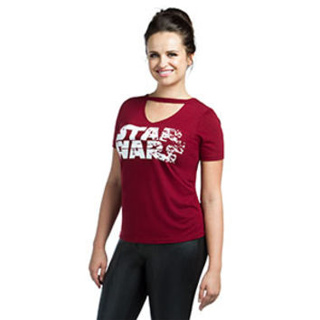 Star Wars: The Last Jedi Logo Ladies' V-Neck Top