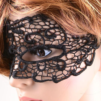 Black Gothic Party Lace Mask