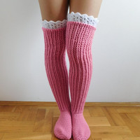 Knee socks CROCHET PATTERN, Over the knee socks, Knee high socks, Instant download, PDF fine N.201