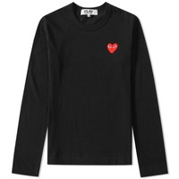 Comme des Garcons Play Women's Long Sleeve Basic Logo Tee