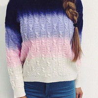MultiColor Knitted Sweater