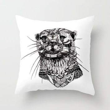 OTTER Throw Pillow by AA Company