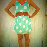 Mint Polka dot summer dress from PeaceLove&Jewels