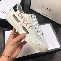GUCCI Ace Gucci logo leather sneaker