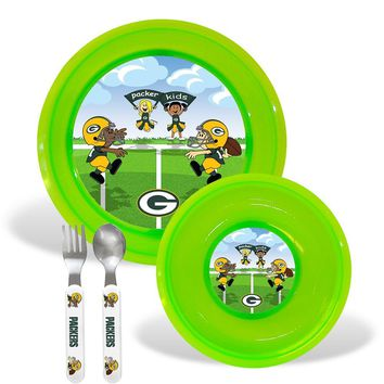 Green Bay Packers NFL BPA Free Toddler Dining Set (4 Piece)