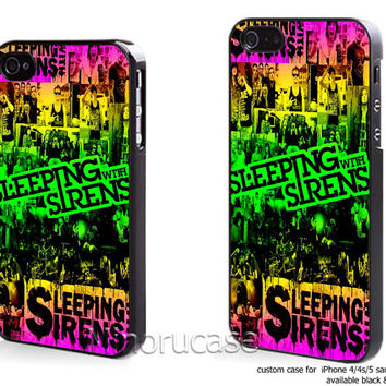 sleeping with sirens Custom case For iphone 4/4s,iphone 5,Samsung Galaxy S3,Samsung Galaxy S4 by minorucase on etsy