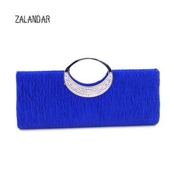 Women Clutch Lady Handbags Party Satin Bags High Quality Purse Wedding Clutch Female Evening Bags Handbags Fashion ZALANDAR