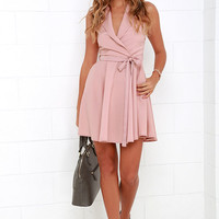 Singing in the Rain Sleeveless Blush Pink Dress