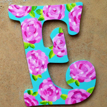 Hand painted Lilly Pulitzer wooden letters by LetteredAndLoved