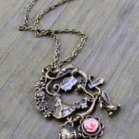 Where Should I Go Alice In Wonderland Necklace by cynicalredhead