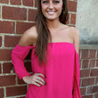 Fuchsia Off-the-Shoulder Top