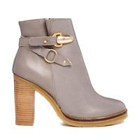 Detail Block Heel Ankle Boots