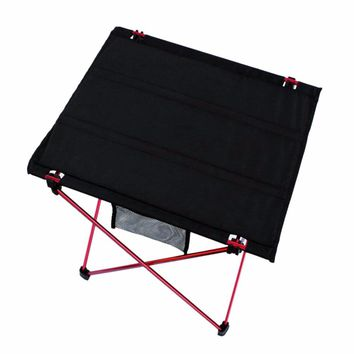 Outdoor Ultra-light Aluminum Alloy Folding Table Waterproof Portable Folding Table Desk For Picnic & Camping