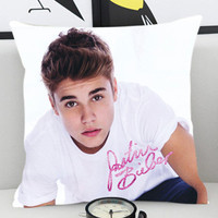Justin Bieber Signature - Pillow Cover by PillowKesetiaan.
