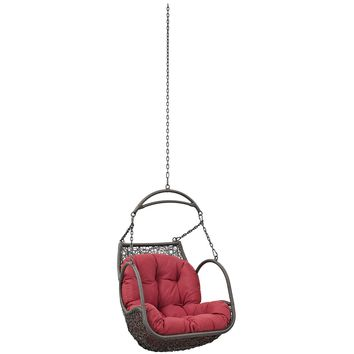 Arbor Outdoor Patio Swing Chair Without Stand Red EEI-2659-RED-SET