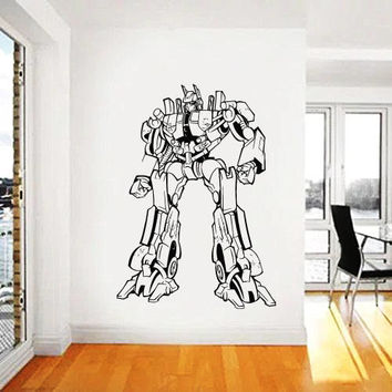 Transformers Wall Decal,Prime Wall Sticker,Bumblebee wall decal,Kids Wall sticker,Bedroom Wall Sticker,Nursery wall decal kau 258