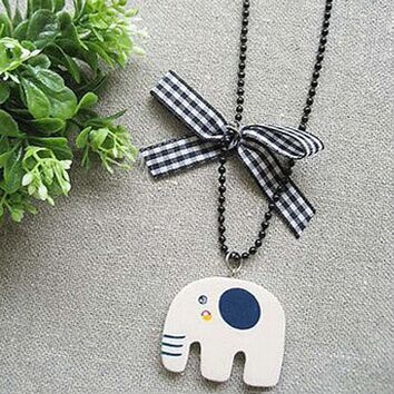 N100 Long Chain Pendant Necklaces Vintage Cute Elephant Necklace Fashion Jewelry Collares
